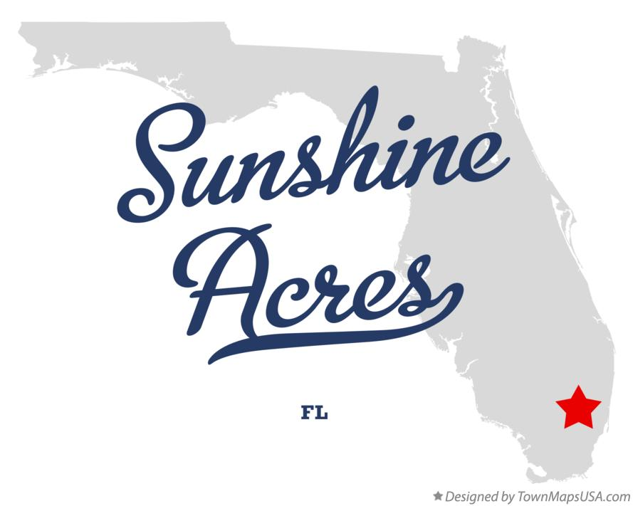 Map of Sunshine Acres Florida FL