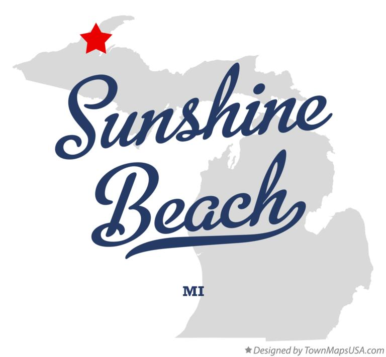 Map of Sunshine Beach Michigan MI