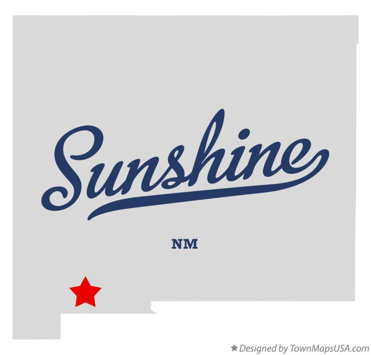 Map of Sunshine New Mexico NM
