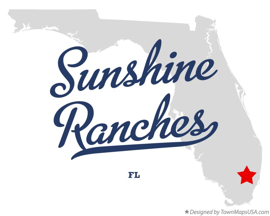 Map of Sunshine Ranches Florida FL