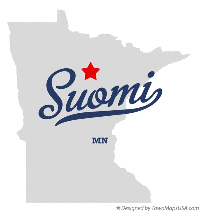 Map of Suomi Minnesota MN