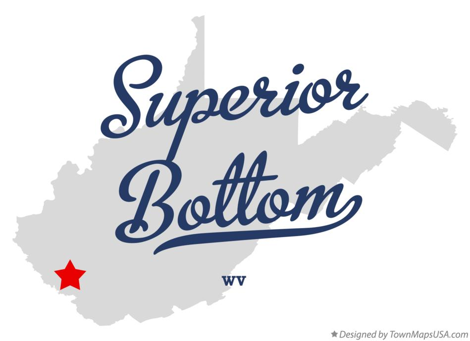 Map of Superior Bottom West Virginia WV