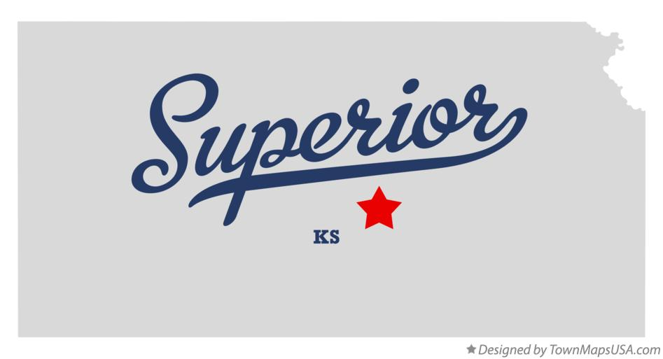 Map of Superior Kansas KS