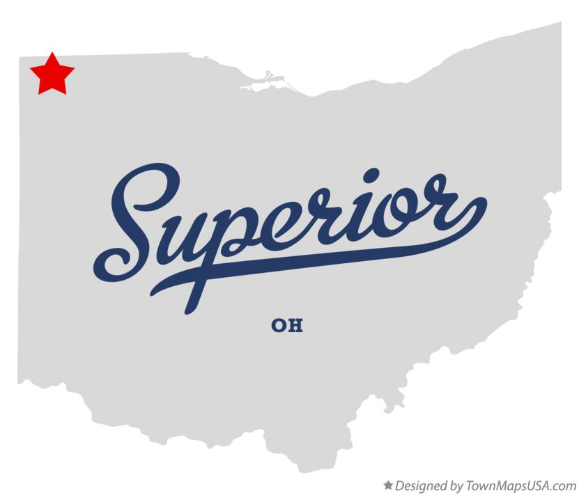 Map of Superior Ohio OH