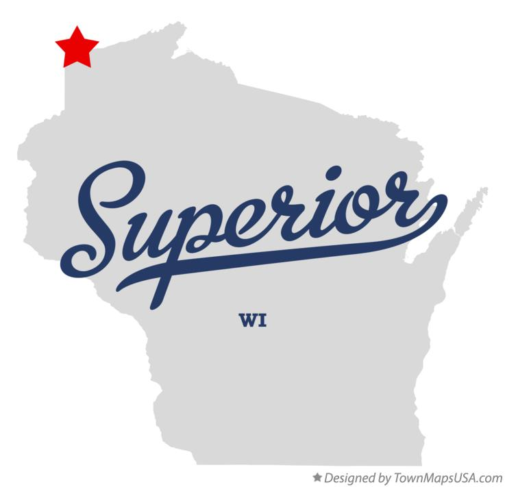 Map of Superior Wisconsin WI