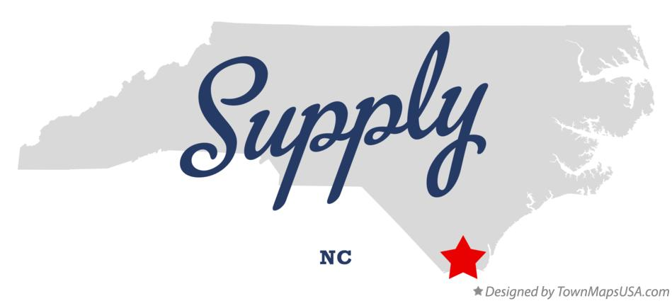 Map of Supply North Carolina NC