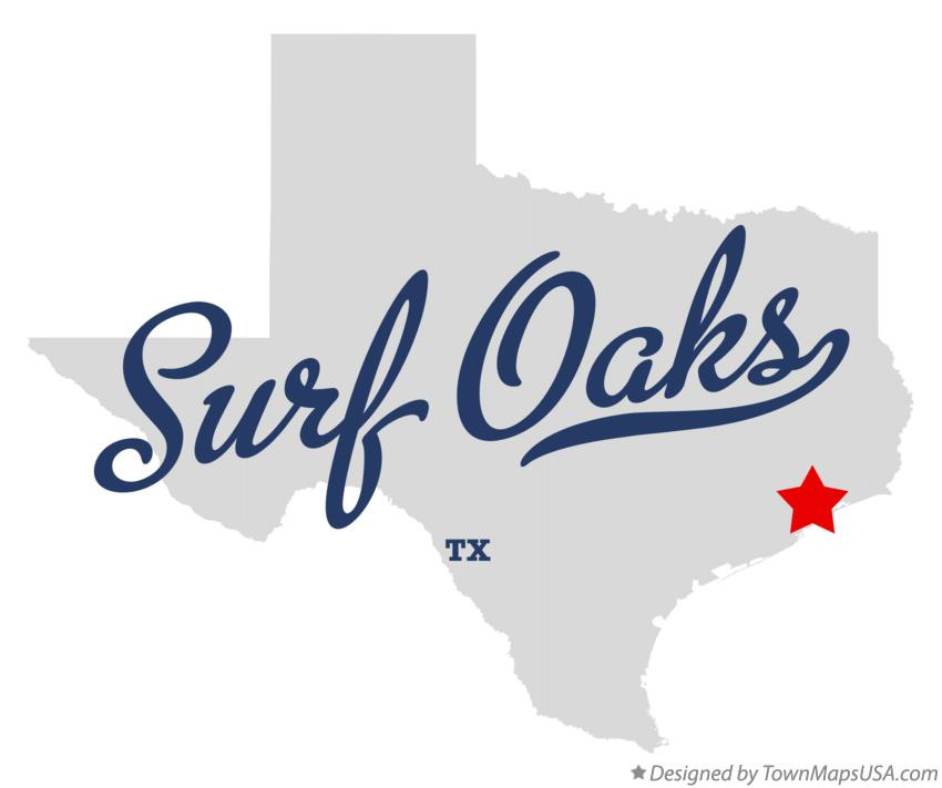 Map of Surf Oaks Texas TX