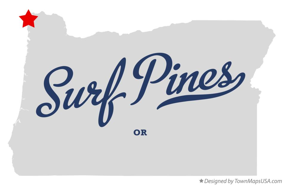 Map of Surf Pines Oregon OR