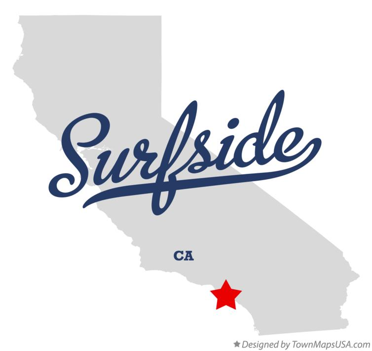 Map of Surfside California CA