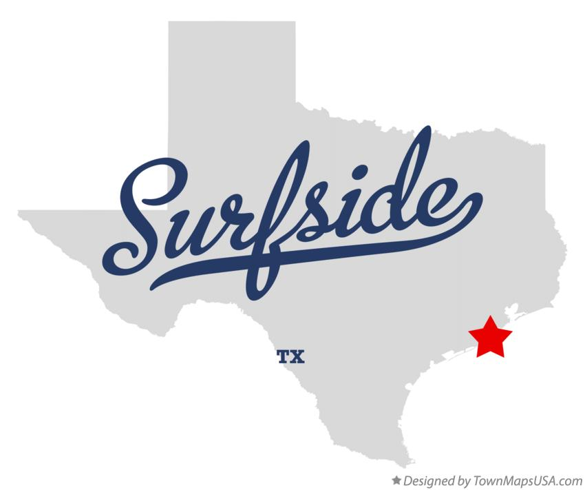 Map of Surfside Texas TX