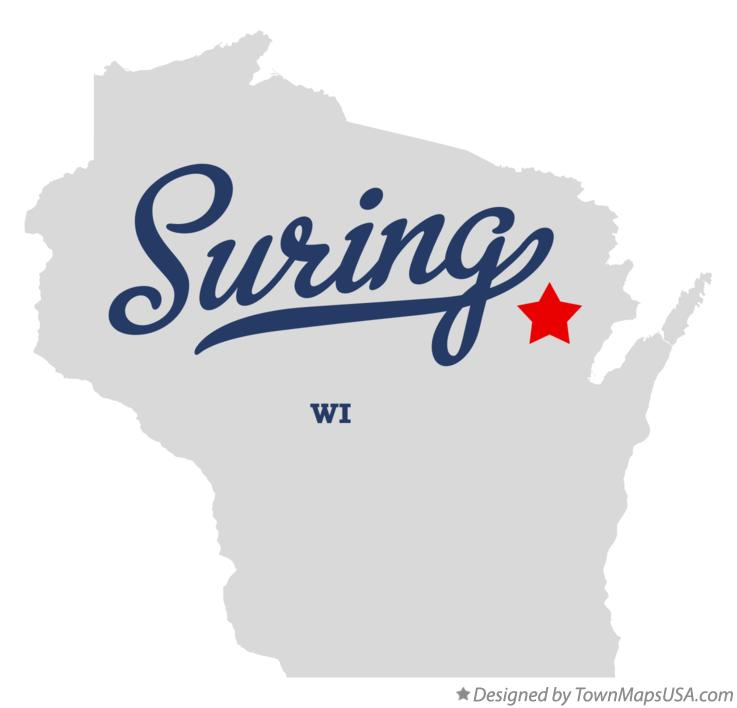 Map of Suring Wisconsin WI