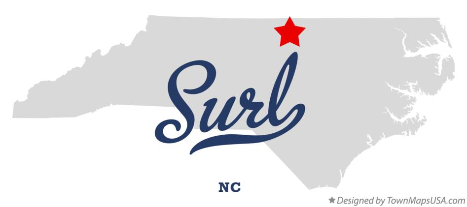 Map of Surl North Carolina NC