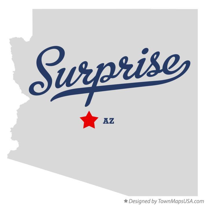 Map of Surprise AZ Arizona