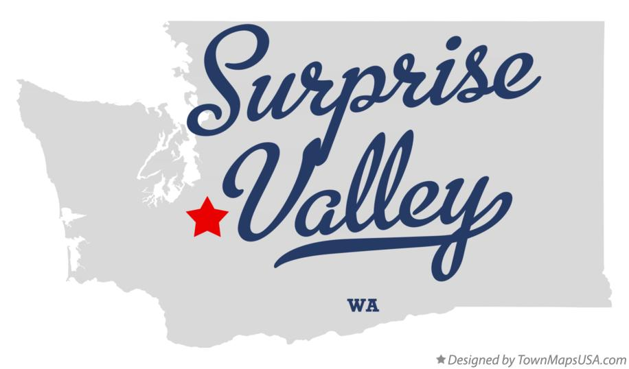 Map of Surprise Valley Washington WA