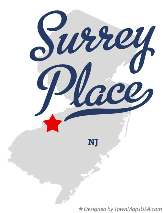 Map of Surrey Place New Jersey NJ