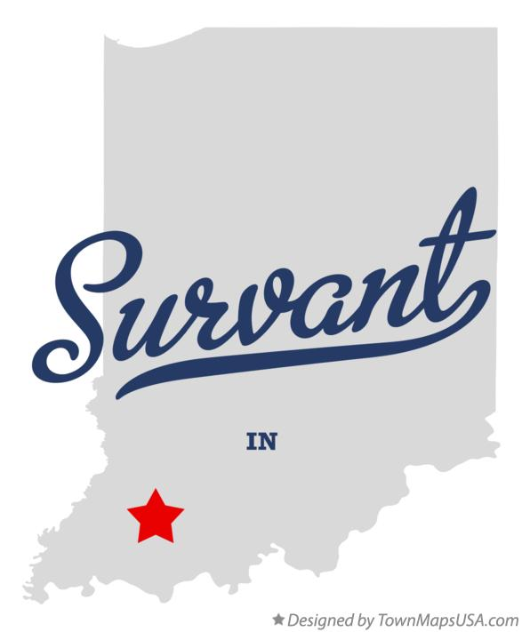 Map of Survant Indiana IN