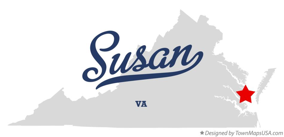 Map of Susan Virginia VA