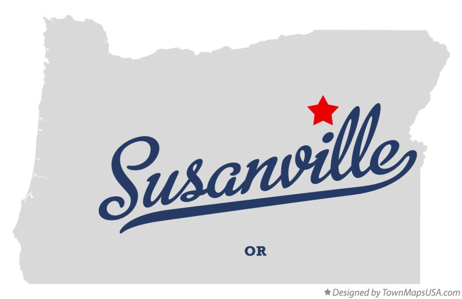 Map of Susanville Oregon OR