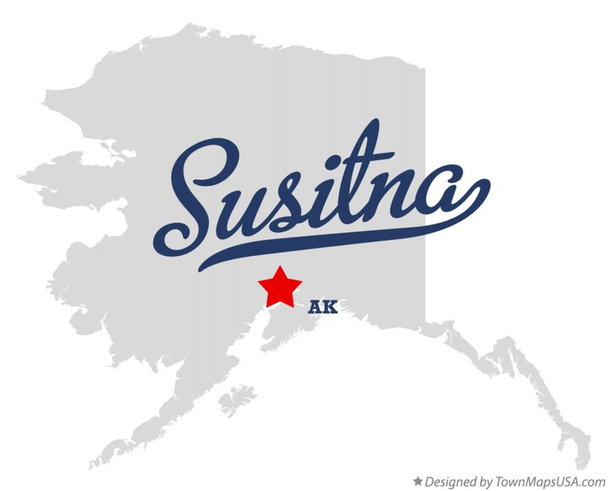 Map of Susitna Alaska AK