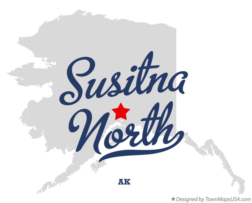 Map of Susitna North Alaska AK