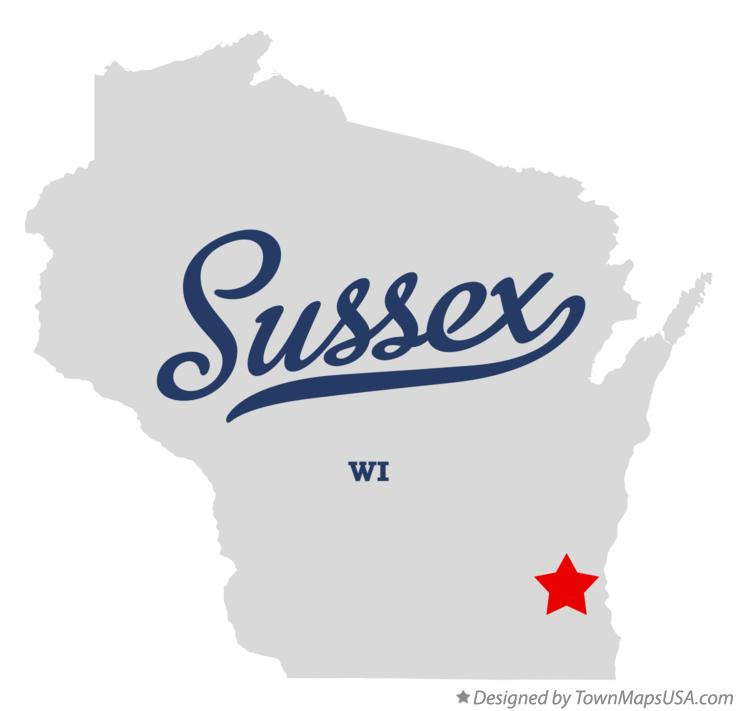 Sussex Wisconsin Map.Map Of Sussex Wi Wisconsin