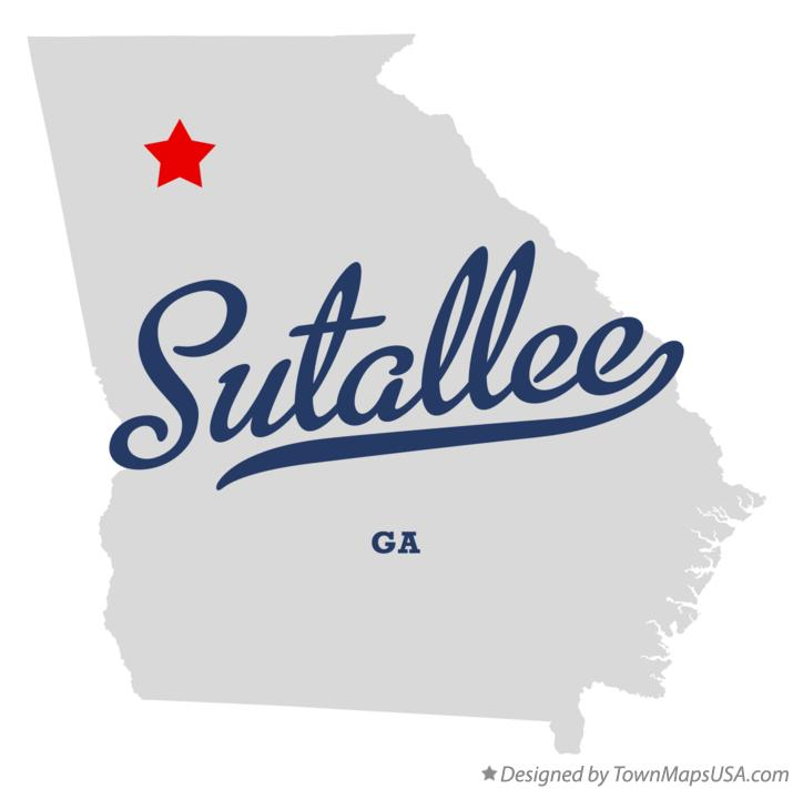 Map of Sutallee Georgia GA