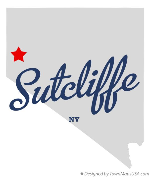 Map of Sutcliffe Nevada NV