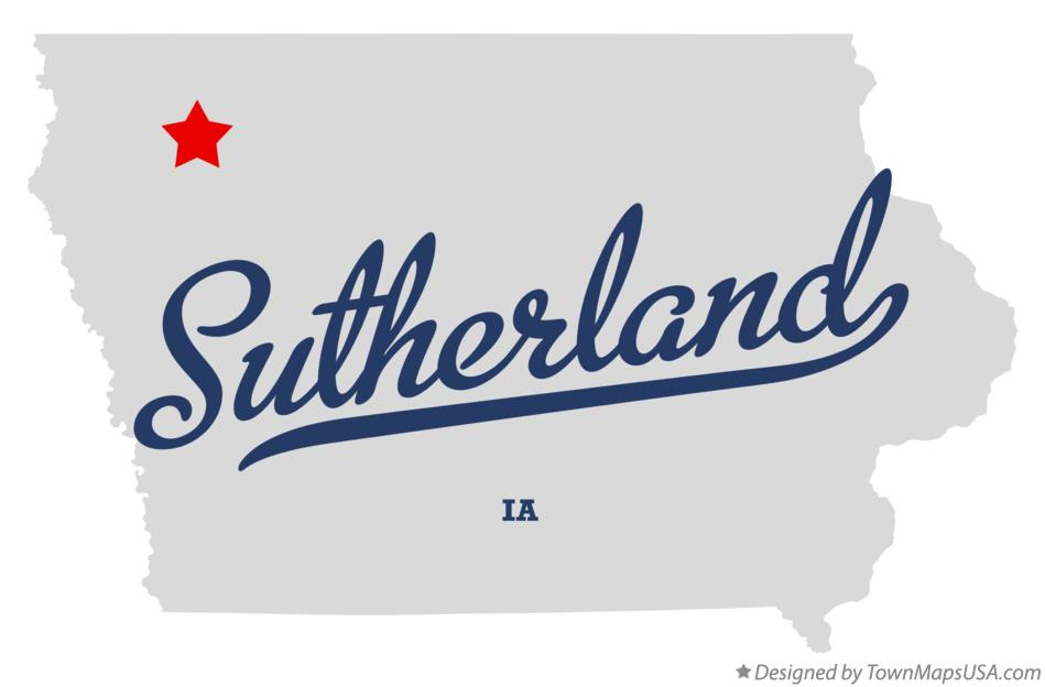 Map of Sutherland Iowa IA