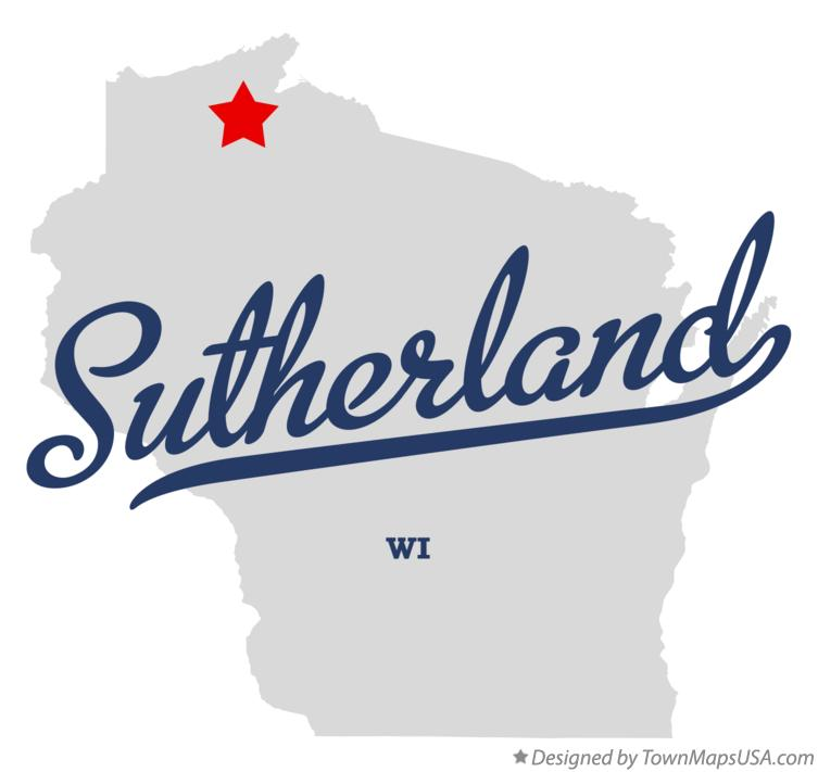 Map of Sutherland Wisconsin WI