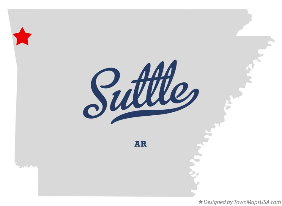 Map of Suttle Arkansas AR