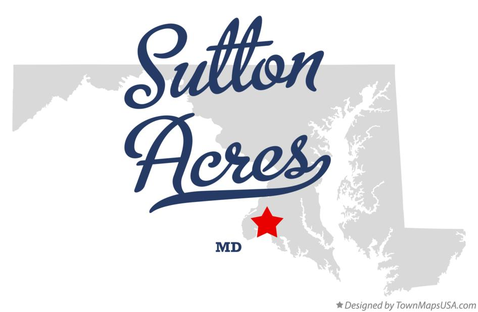 Map of Sutton Acres Maryland MD