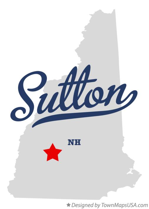 Map of Sutton New Hampshire NH