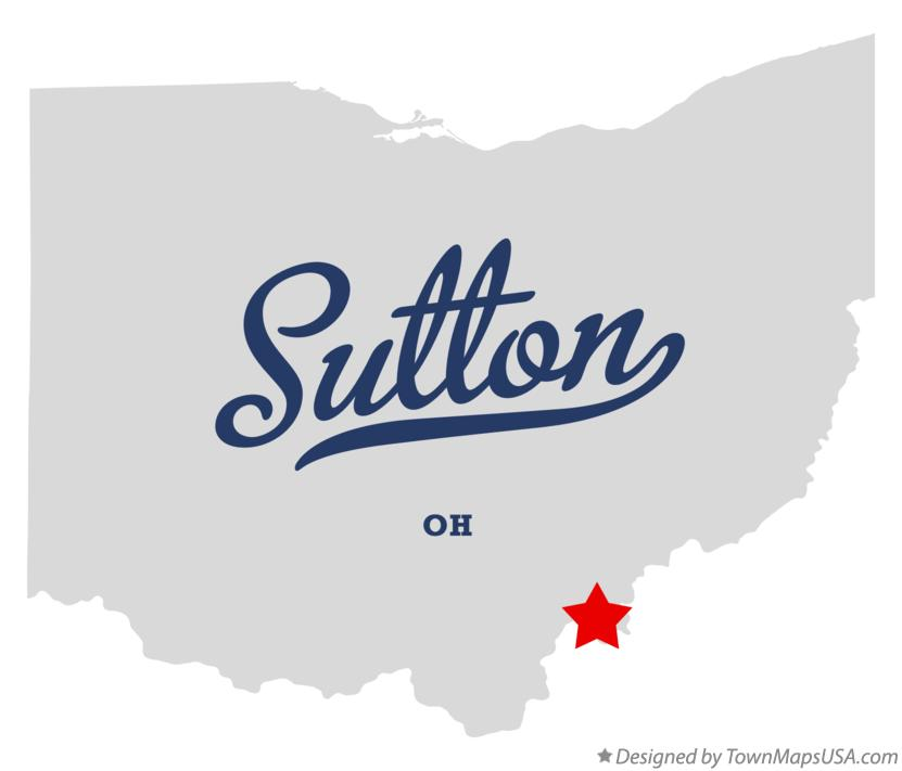 Map of Sutton Ohio OH