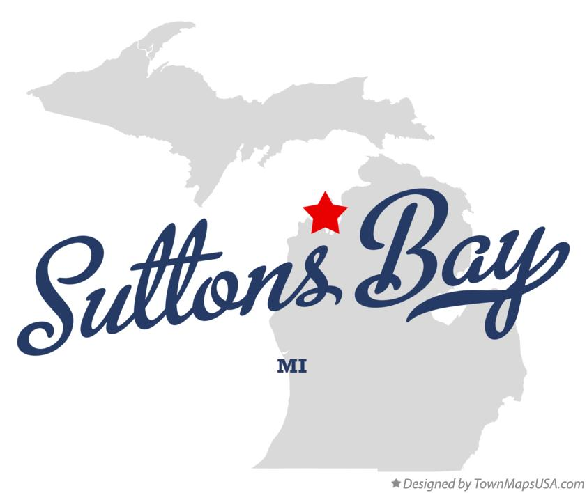 Map of Suttons Bay Michigan MI