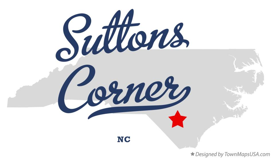 Map of Suttons Corner North Carolina NC