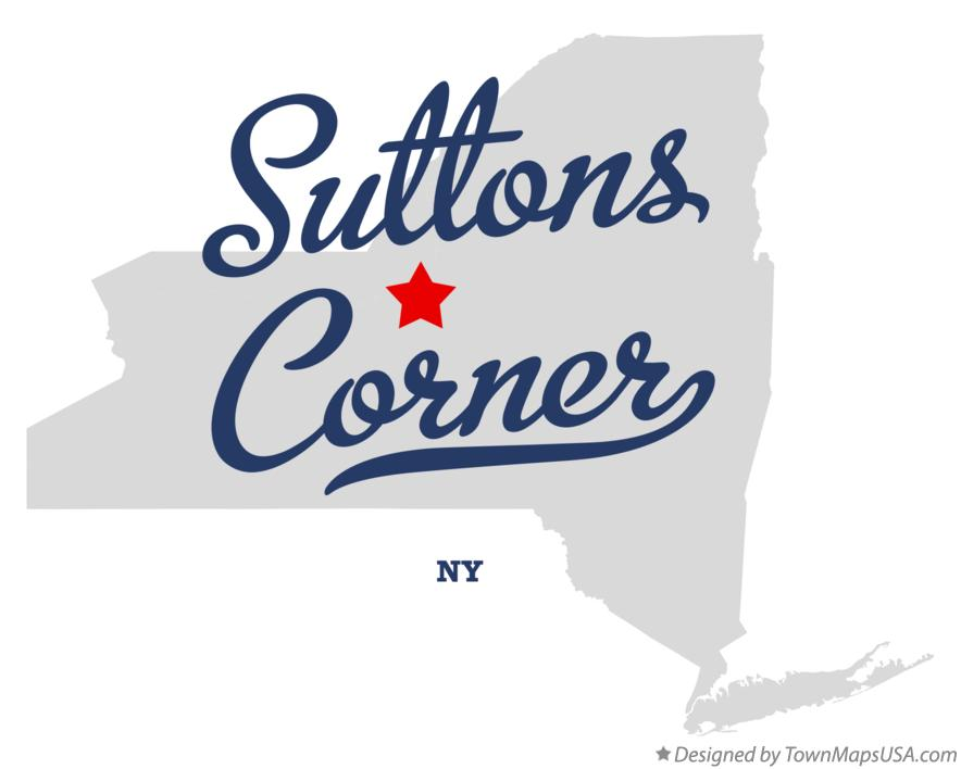 Map of Suttons Corner New York NY