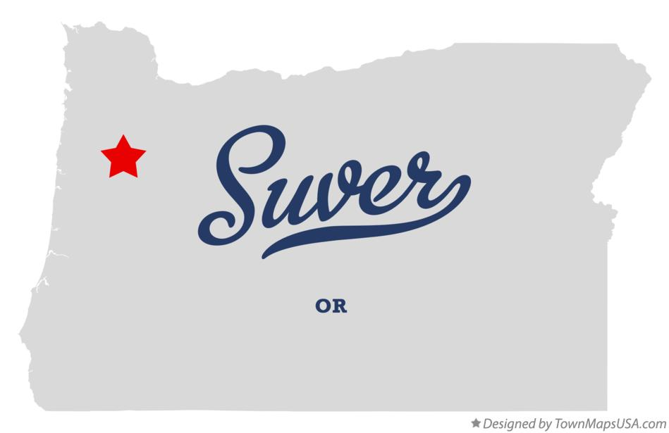 Map of Suver Oregon OR