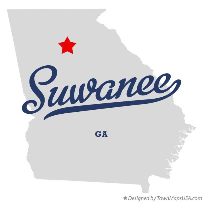 Map Of Suwanee Ga Georgia