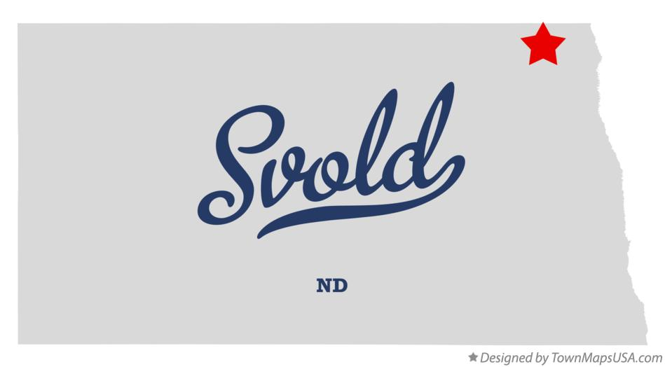 Map of Svold North Dakota ND