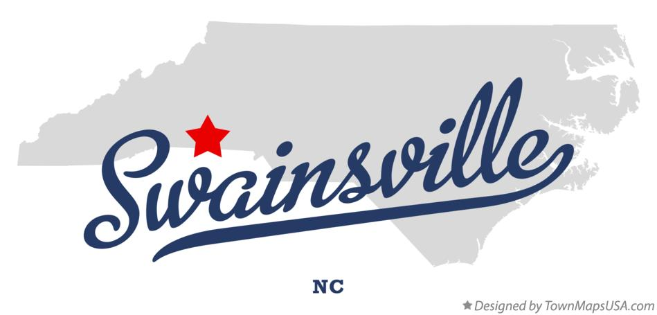 Map of Swainsville North Carolina NC