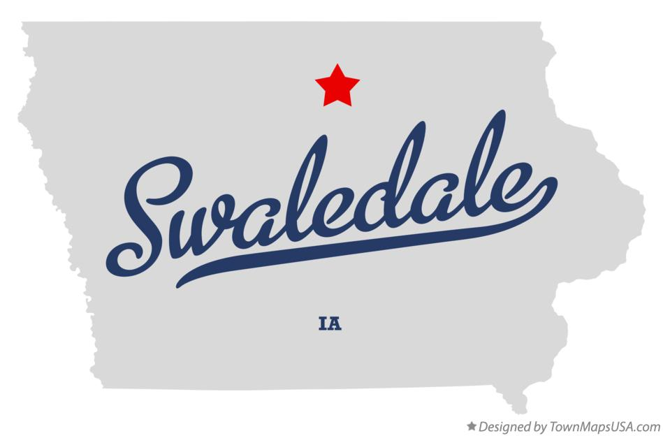 Map of Swaledale Iowa IA