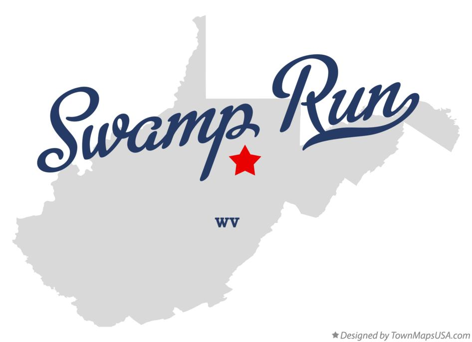 Map of Swamp Run West Virginia WV