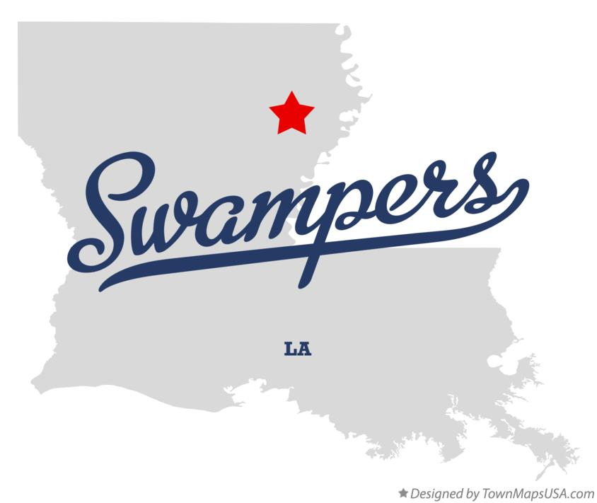Map of Swampers Louisiana LA