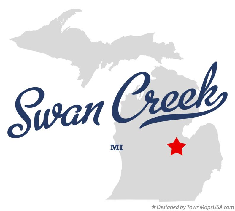 Map of Swan Creek Michigan MI