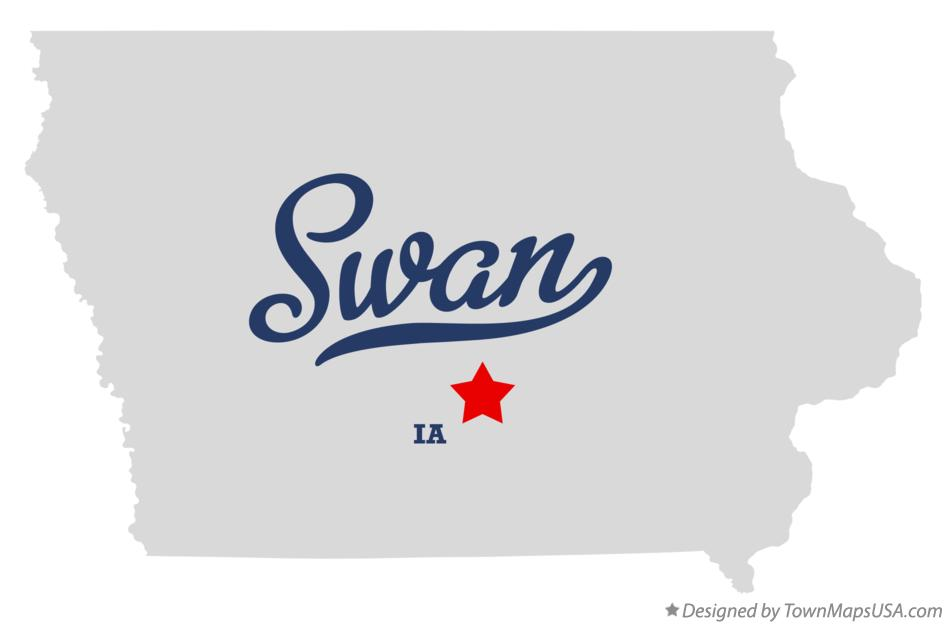 Map of Swan Iowa IA
