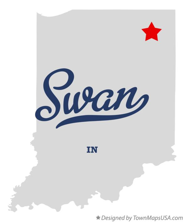 Map of Swan Indiana IN