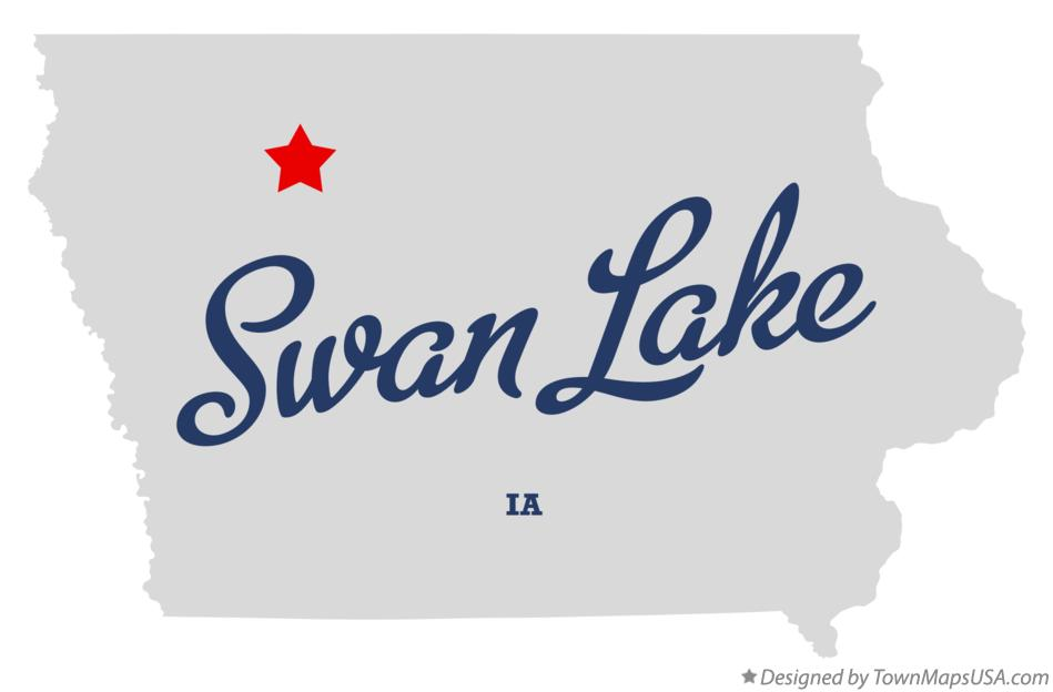 Map of Swan Lake Iowa IA