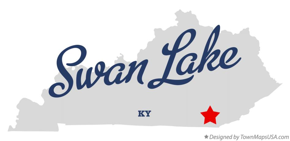 Map of Swan Lake Kentucky KY