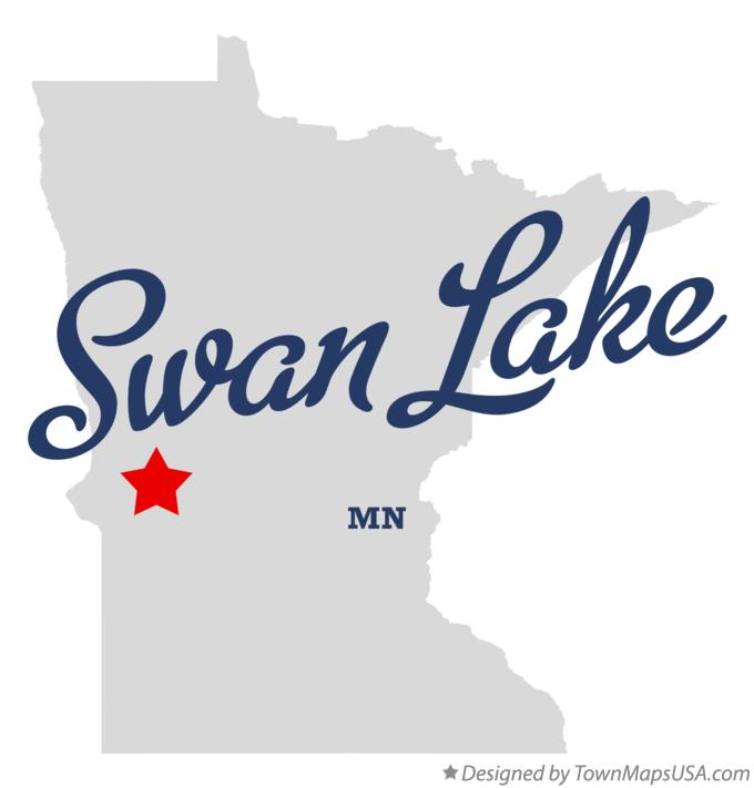 Map of Swan Lake Minnesota MN