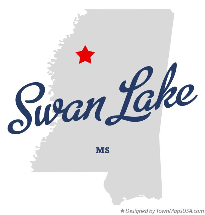 Map of Swan Lake Mississippi MS